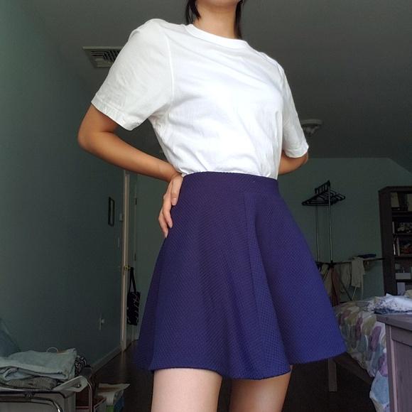 H&M Dresses & Skirts - H&M Navy Jacquard Circle Skirt | S